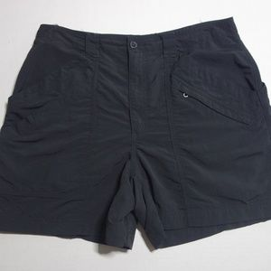 Royal Robbins Shorts Women 10 Black Nylon Hiking